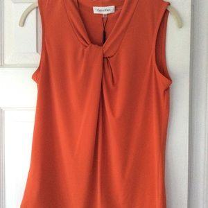 New! Calvin Klein Spicy Orange Shell